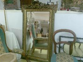 Miroir grand accanthes et dorure