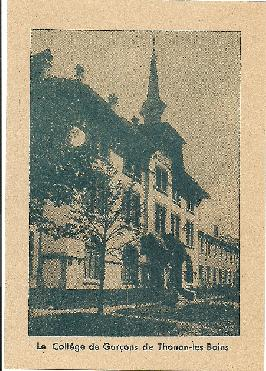 Carte postale Thonon College v.1928-1930